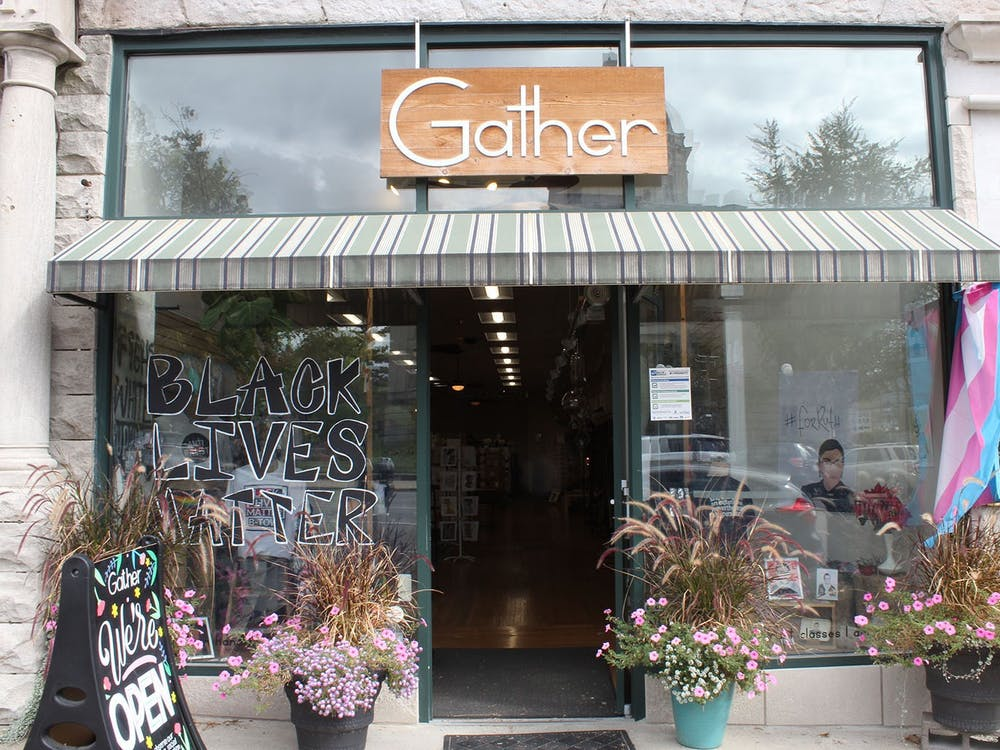 Gather is located across from the Monroe County Courthouse in downtown Bloomington. A retail gift shop, Gather showcases emerging and independent handmade goods, according to its  website.