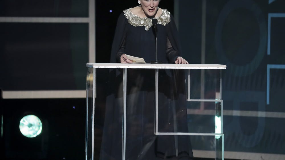 Glenn Close speaks during the 26th Screen Actors Guild Awards on Jan. 19, 2020, at the Los Angeles Shrine Auditorium and Expo Hall in Los Angeles.