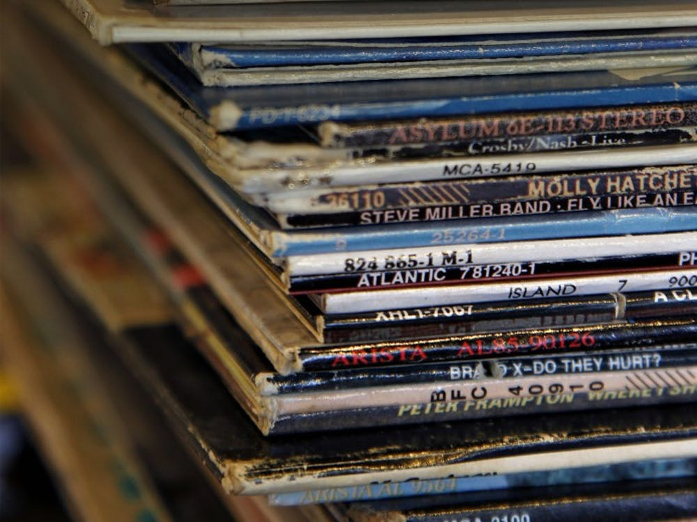 Used vinyl records from the late 70's and 80's are stacked inside inside the Radio-Active Records store in Fort Lauderdale, Florida, on May 9, 2012. (Carl Juste/Miami Herald/MCT)
