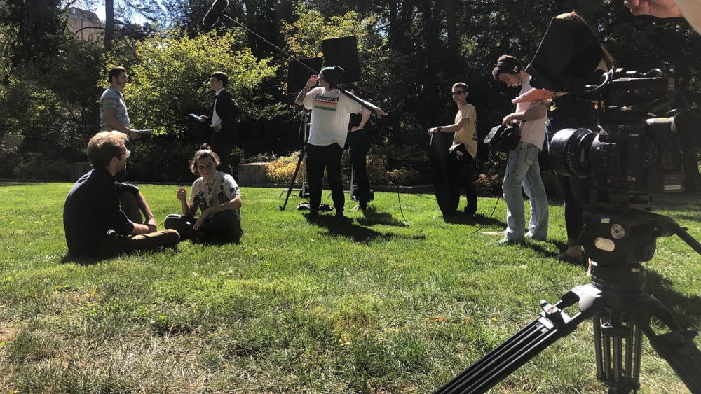 "Students film the movie ""Graduation"" directed by Clarisse Gamblin on Sept. 14, 2019. The movie will be shown at IU's student film festival Montage on Thursday."