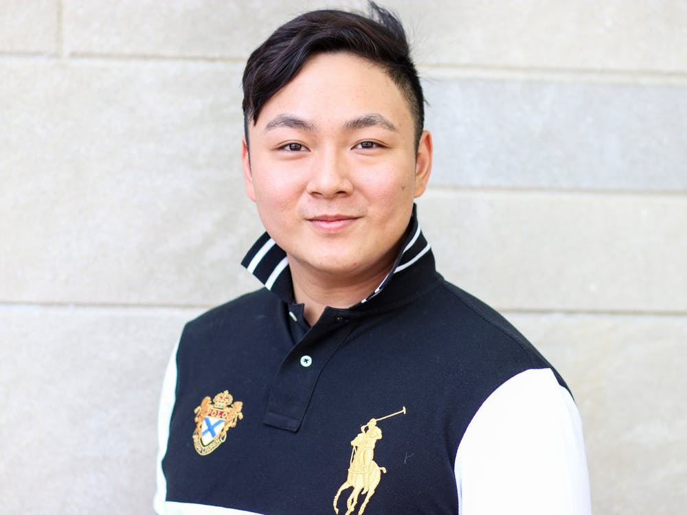 Sean Han, president of the Malaysian Student Association, poses for a portrait May 2 in front of the Indiana Memorial Union. Han has not gone home to Kuala Lumpur, Malaysia, since coming to IU in 2019.