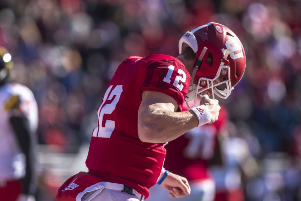 9d395176 IU football returns player names to backs of jerseys - Indiana Daily ...