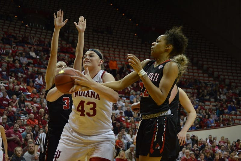 IU beats Ball State 71-58 in the first game of the WNIT ...
