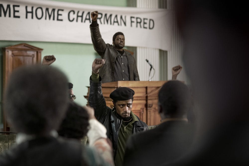 <p>Daniel Kaluuya, as Fred Hampton, and LaKeith Stanfield, as Bill O&#x27;Neal, perform in &quot;Judas and the Black Messiah.&quot; The film premiered Feb. 12 on HBO Max. </p>