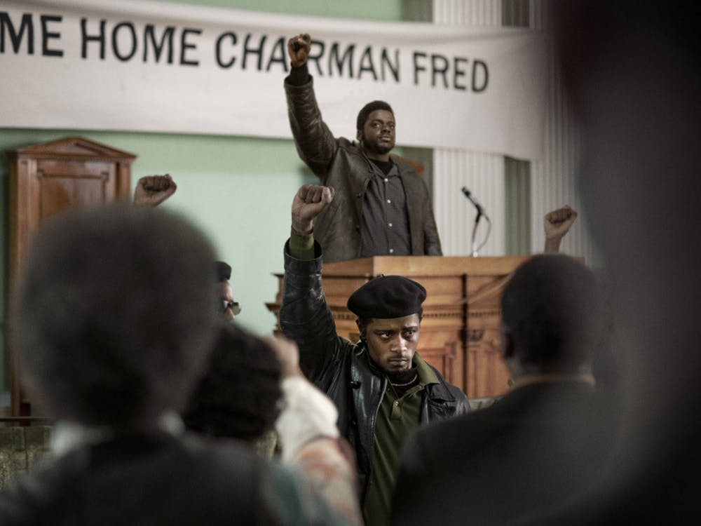 """Daniel Kaluuya, as Fred Hampton, and LaKeith Stanfield, as Bill O'Neal, perform in """"Judas and the Black Messiah."""" The film premiered Feb. 12 on HBO Max."""