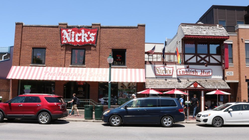 Nick's English Hut is located at 423 E. Kirkwood Ave., down the street from the Sample Gates.