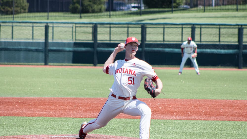 Then-sophomore pitcher McCade Brown throws against Iowa on May 1. Brown was selected No. 79 overall in the MLB Draft on Monday.