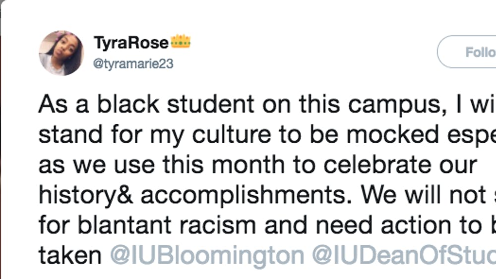 Freshman Tyra Rose Nibbs tweeted out screenshots just before 2 p.m. Feb. 7 depicting a box of pregnancy tests, a pack of cigarettes, a dollar bill, an empty plastic baggie and four condoms, which had been posted by another student. The photos, layered with Snapchat's Black History Month filter, went viral with Nibbs' tweet.