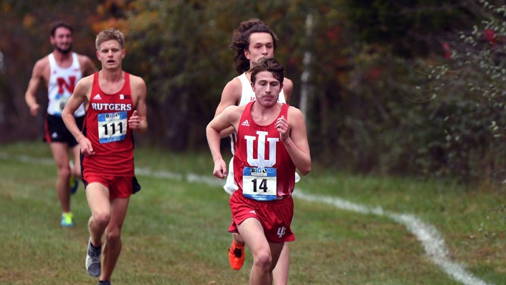 Then-redshirt freshman Cameron Clements runs in the Big Ten Cross-Country Championships on Oct. 29, 2017, at the IU Cross Country course. IU cross-country saw both the men's and women's teams qualify for the NCAA Championships last year for the first time since 2013.