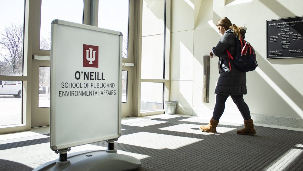 The School of Public and Environmental Affairs changed its name March 4. The school will be known as the Paul H. O'Neill School of Public and Environmental Affairs in honor of O'Neill's career and his $30 million donation.