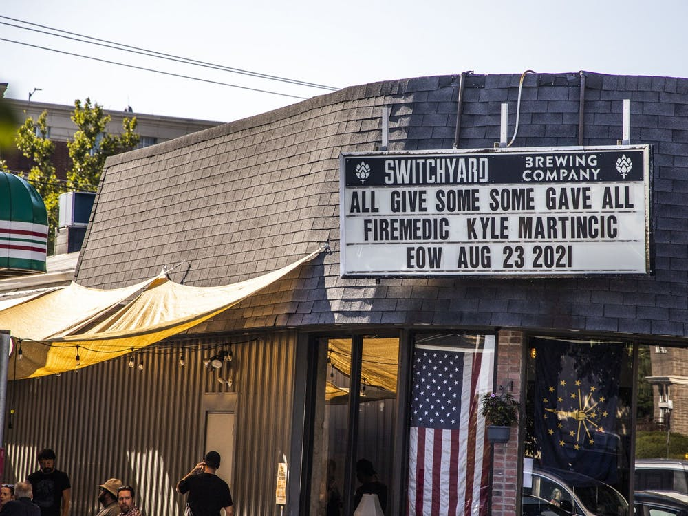 Patrons visit Switchyard Brewing Company Sept. 1, 2021, at 419 N Walnut St.