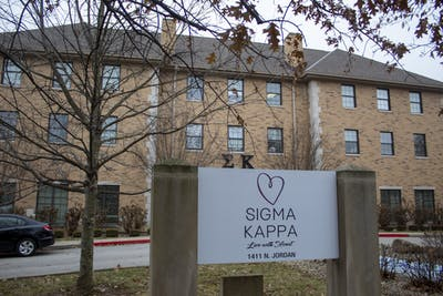 The Sigma Kappa house is seen Dec. 15 at 1411 N. Jordan Ave. The house donated money to Alzheimer's research.
