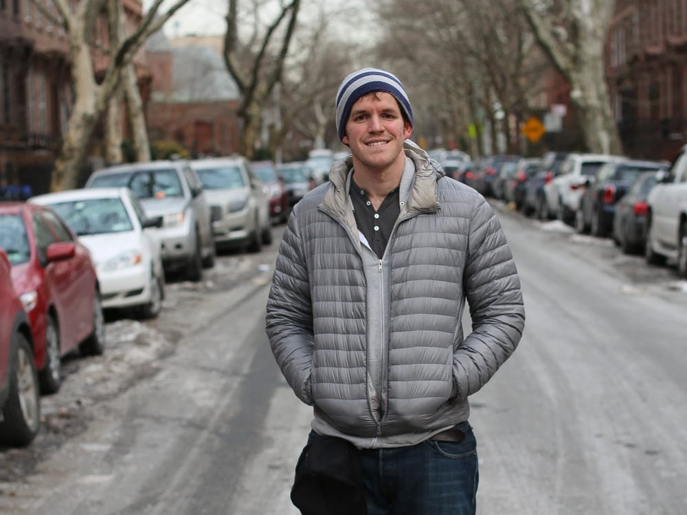 """Brandon Stanton, author of """"Humans of New York,"""" poses for a headshot. Stanton will be participating Thursday in a free virtual event available to view on Zoomand the IU Auditorium's Facebook page."""