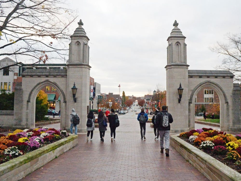 The Sample Gates are on Indiana Avenue, next to Franklin Hall.