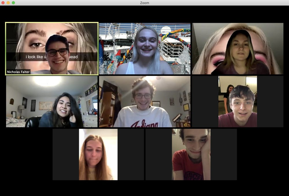 <p>A group of friends celebrate a birthday on Zoom during the COVID-19 pandemic.</p>