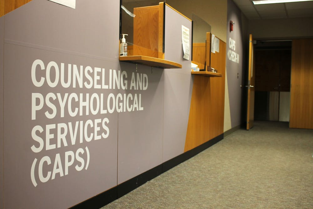 <p>The Counseling and Psychological Services offices are located on the fourth floor of the IU Health Center. The mental health of many students has suffered during the COVID-19 pandemic. </p>
