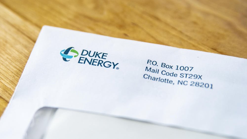 An envelope from Duke Energy lays on a kitchen island in Bloomington. Scam calls have increased since the company made a coronavirus pandemic-related announcement.