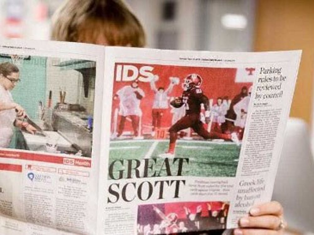 An Indiana Daily Student publication being read. The IDS won 79 awards in total during two different award presentation events.