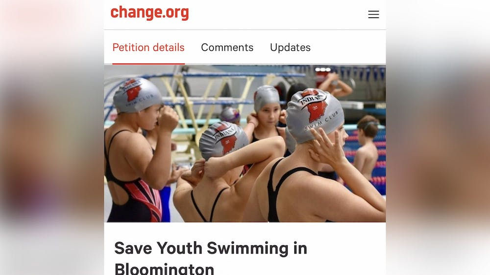 A screen grab from a GoFundMe for the Indiana Swim Club.