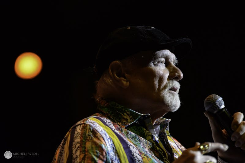 Mike Love, founding member of the Beach Boys, sings Feb. 29 in Brown County Music Center. The Beach Boys performed twice Feb. 29 at the center.