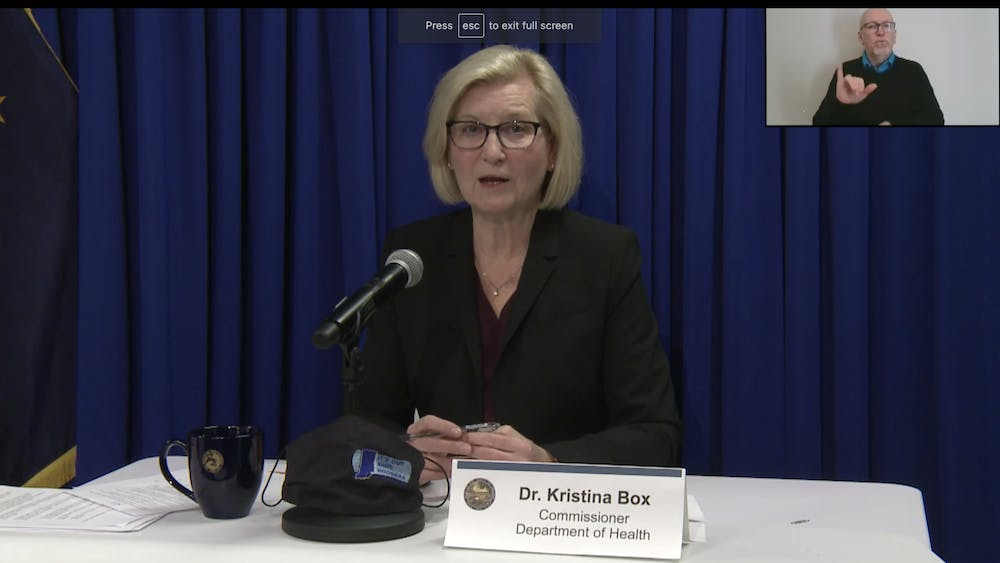 Indiana State Health Commissioner Dr. Kristina Box gives an update on the COVID-19 response in Indiana on Feb. 3 over Zoom. Gov. Eric Holcolmb held a COVID-19 briefing to discuss topics such as contact tracing and vaccine rollout Wednesday afternoon.