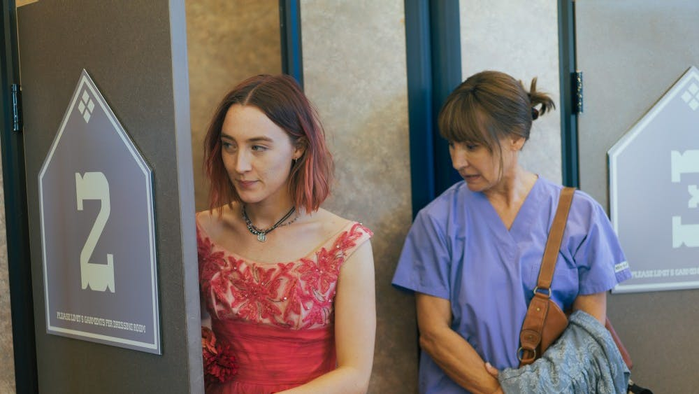 """Saoirse Ronan and Laurie Metcalf in the film, """"Lady Bird."""" The film has been nominated for five Oscar awards, one being best picture for 2018."""