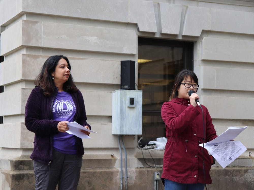Activists delivered speeches around 12 p.m. on May 21 at the Monroe County Courthouse.Speakers at the #StopTheBans rally included representatives from the National Organization for Women and All Options Pregnancy Resource Center.