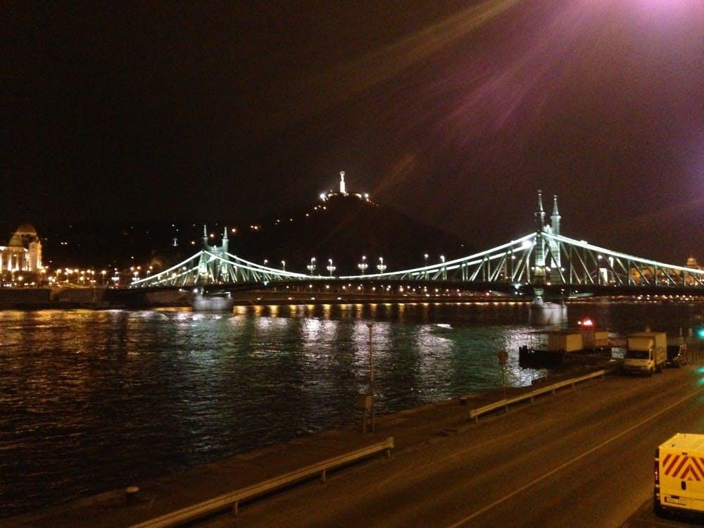 Liberty Bridge, Budapest, Hungary.