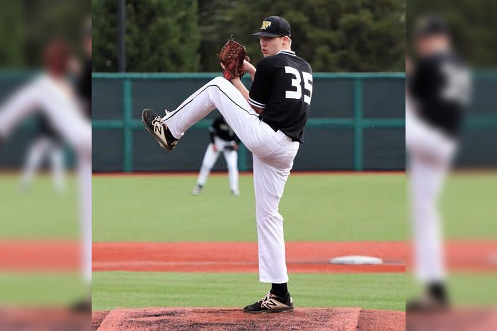 <p>New IU baseball commit Ayden Decker-Petty pitches for New Castle High School. The 6-foot 5-inch right-handed pitcher is the fifth prospect in the 2022 class to commit to play for IU.</p>