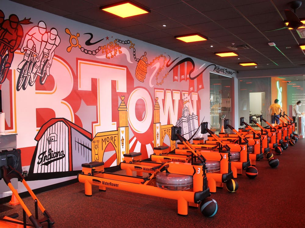 The inside of Orangetheory Fitness, located at 210 E. Kirkwood Ave., is pictured. Orangetheory will have its grand opening April 9.