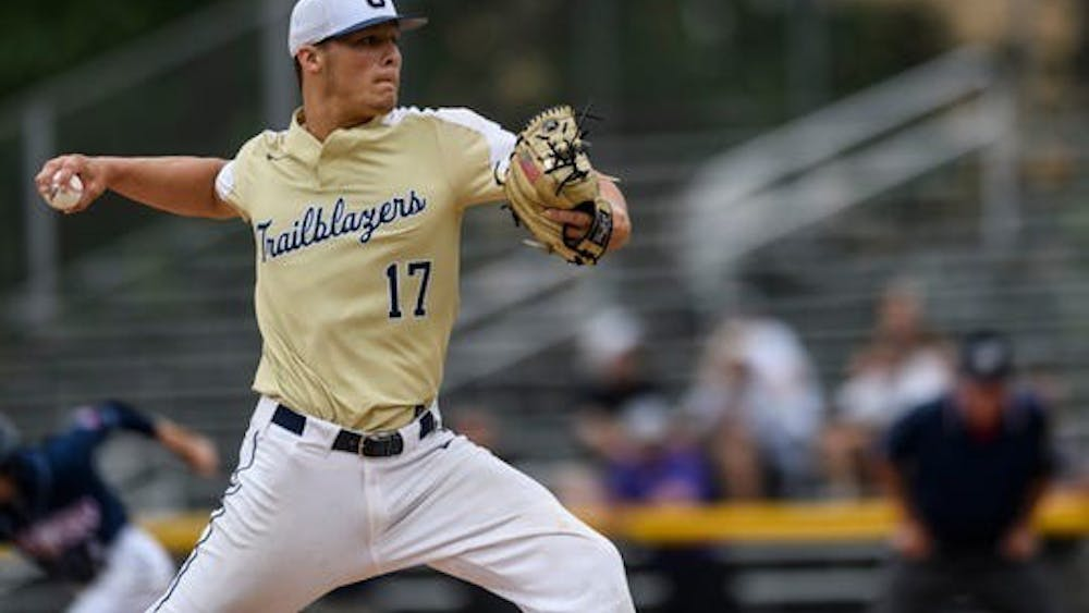 Reese Sharp pitches during the state title game June 17 at Victory Field in Indianapolis. After being drafted by the San Francisco Giants, Sharp declined the offer to play baseball at IU.