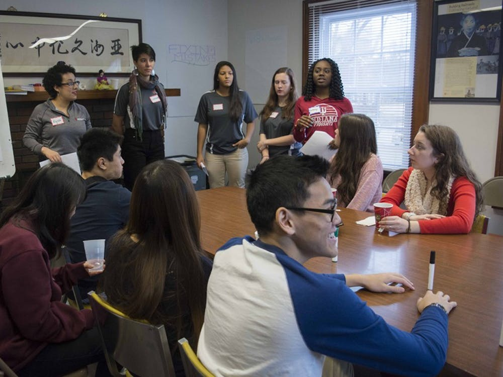 IU Asian Culture Center staff are conducting the new year's resolutions workshop to students at Asian Culture Center, Jan 13.