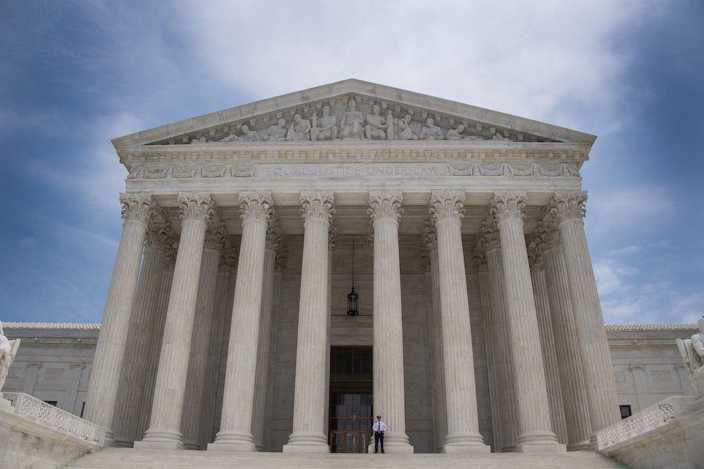 <p>A police officer stands guard June 15, 2017, on the steps of the U.S. Supreme Court in Washington, D.C. The Supreme Court affirmed a ruling against the NCAA on Monday, declaring that the collegiate athletics organization violated antitrust laws.</p><p><br/><br/><br/></p>