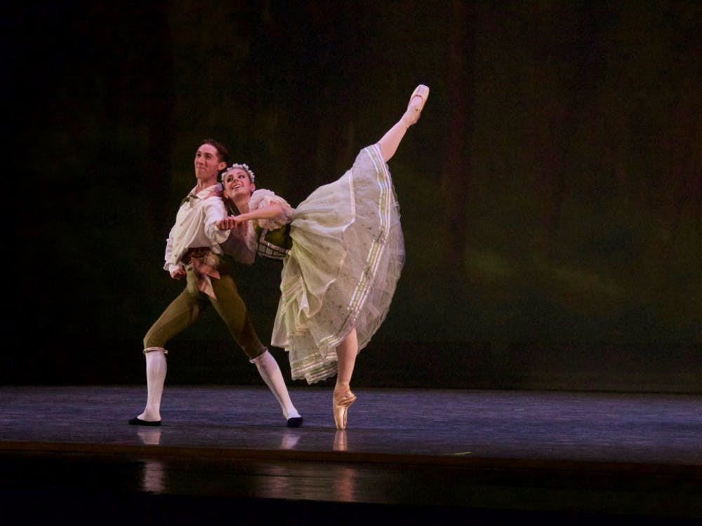 """Nicholas Gray and Georgia Dalton dance in """"Dances for Two."""" The ballet will play at the Musical Arts Center on Sept. 29 at 7:30 p.m. and Sept. 30 at 2 p.m. and 7:30 p.m."""