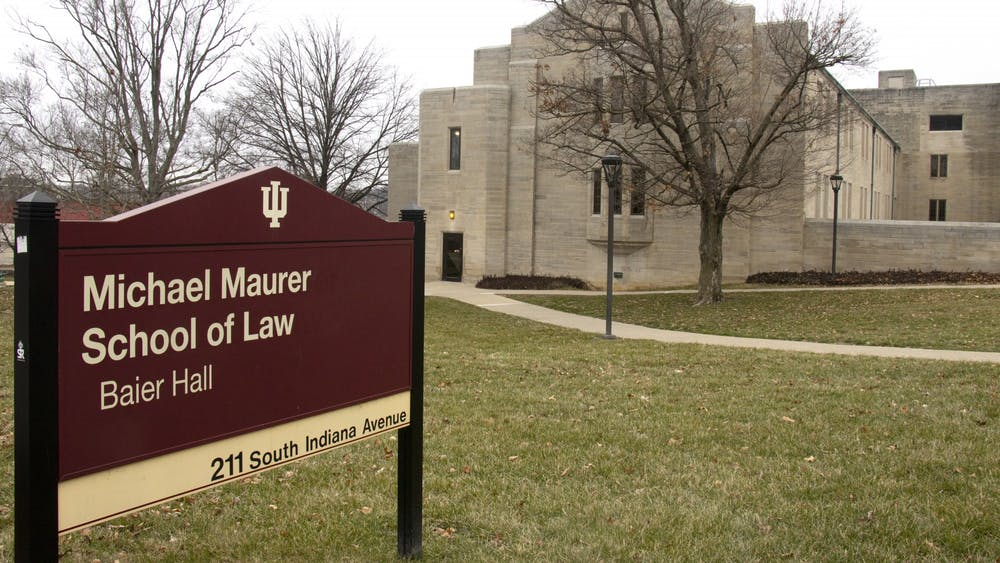 The outside of Michael Maurer School of Law is seen Jan 28. Within the last six months, the Maurer School of Law has accepted $8.9 million in financial gifts from friends and alumni of the school.