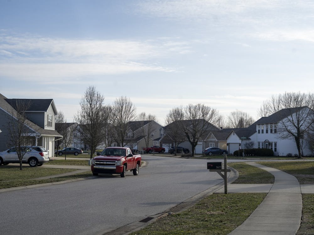 Houses are seen Jan. 26 on South Glasgow Circle in Bloomington. The Bloomington City Council conducted a series of votes Wednesday on amendments to the Unified Development Ordinance.