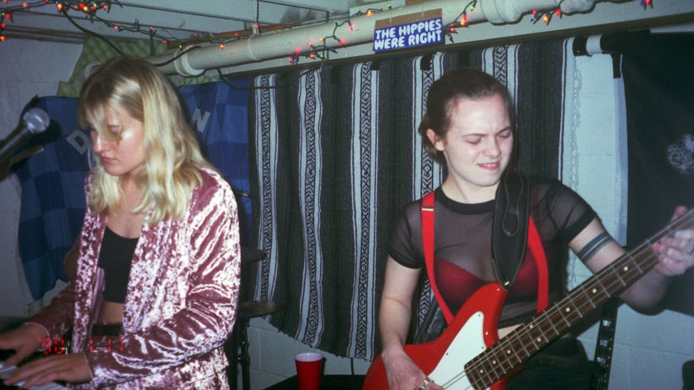 """The Bloomington band Rosegirl consists of a trio of IU sophomores. The group wrote a 30-minute rock opera called """"Marlene the Dream,"""" which they are currently recording."""
