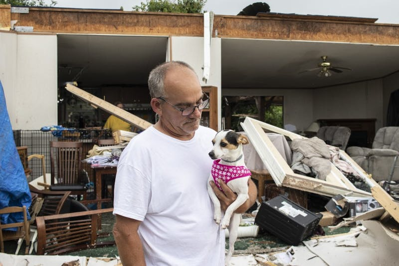 GALLERY: Monroe County residents struggle with loss in tornado's aftermath