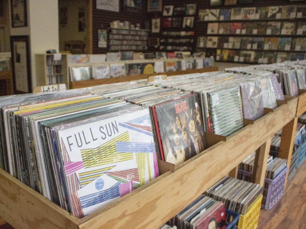 A variety of records and CDs can be found at Landlocked Music.
