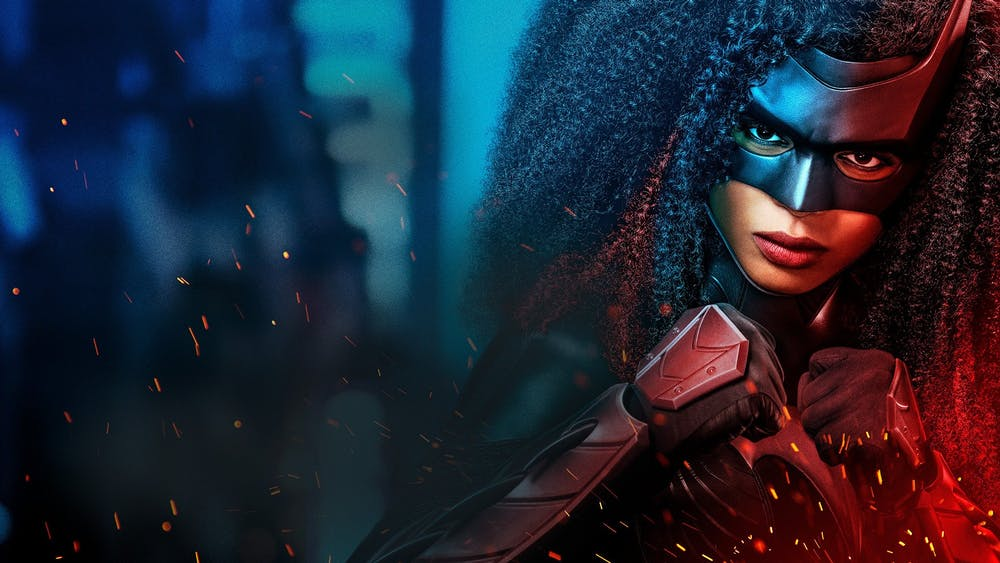 Javicia Leslie poses in costume as Batwoman for a promotional still of the CW show. Leslie took over the role from actress Ruby Rose, who portrayed the character last season.
