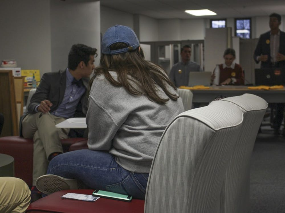 Focus for IUSA Presidenthopeful Brandon Sakbun discusses their campaign's intention to collaborate with other student organizations, which do not receive as much funding as IUSA. At the Town Hall Meeting Tuesday evening, the executive hopefuls disagreedon the best method of allocating budgets to serve IU's student body.