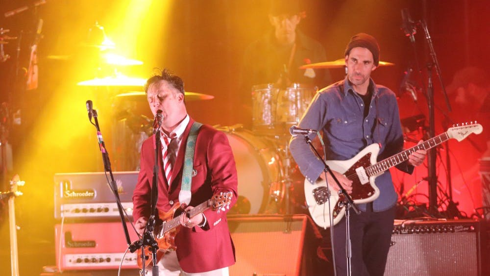 Lead singer Isaac Brock and guitarist Jim Fairchild of Modest Mouse perform Oct. 19 at IU Auditorium.