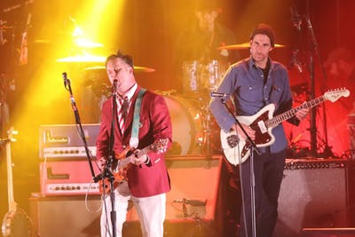Lead singer Isaac Brock and guitarist Jim Fairchild of Modest Mouse perform Oct. 19 in the IU Auditorium.