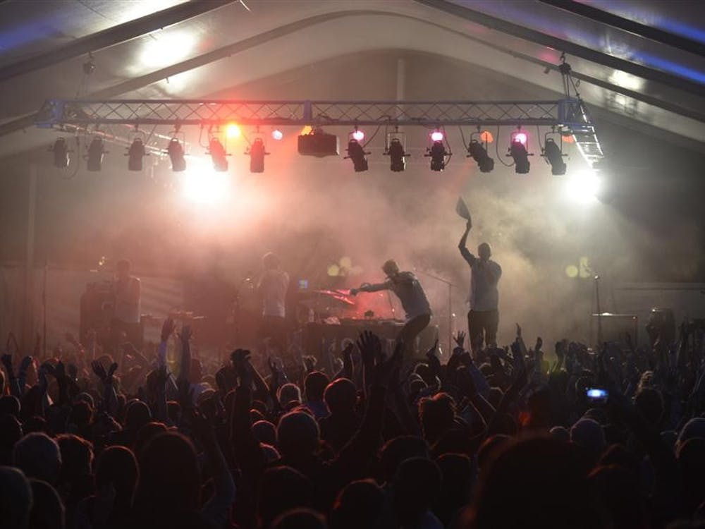 Movits! of Sweden perform during the Lotus World Music & Arts Festival on Friday at the Indiana University Tent.