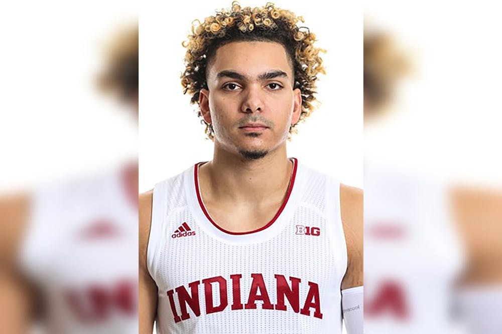 <p>Redshirt junior guard Parker Stewart poses for a headshot. Stewart, who did not play last season, announced Wednesday in a Twitter post he will return for the 2021-22 season.</p>