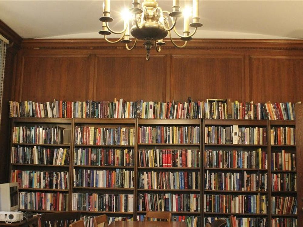 A library in the 100-year-old IU Press building houses books printed within the non-profit's 62 years of publishing.
