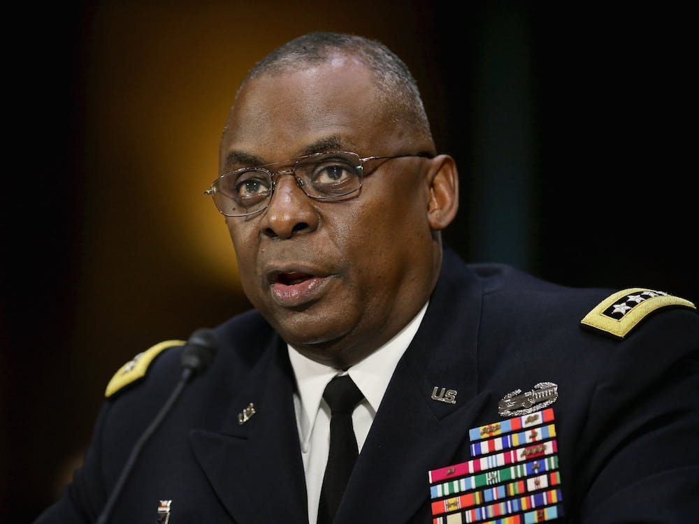 Gen. Lloyd Austin III, commander of U.S. Central Command, testifies Sept. 16, 2015, before the Senate Armed Services Committee on Capitol Hill in Washington, D.C. President-elect Joe Biden plans to nominate retired Army General Austin as defense secretary.