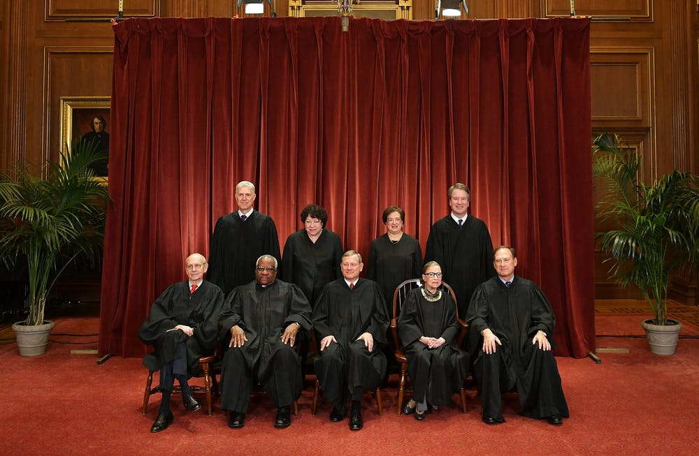 <p>Justices of the U.S. Supreme Court pose Nov. 30, 2018, for their official photo at the Supreme Court in Washington, D.C.</p>