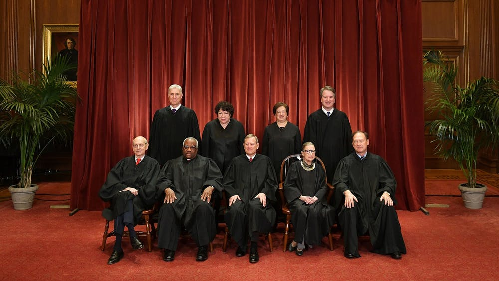 Justices of the U.S. Supreme Court pose Nov. 30, 2018, for their official photo at the Supreme Court in Washington, D.C.
