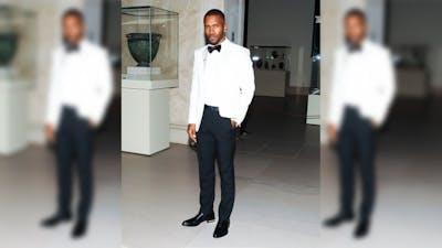 Frank Ocean poses May 5, 2014, at the Metropolitan Museum of Art in New York City.